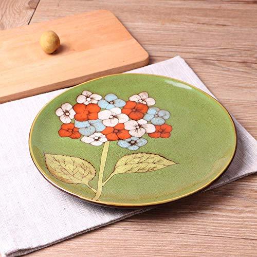 ZJN-JN Plaques Plaque personnalité créative en céramique plaque peinte à la main-Steak occidental Pâtes Plat vaisselle Accueil vaisselle Motif authentique Vaisselle Couleur des ménages 21.3Cm vaissell