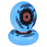 AOWISH Ripstik Wheels [2-Pack] 76mm Ripstick Wheels 90A Razor Ripsurf Caster Board Replacement Wheel with Pre-Installed Bearings ABEC 9 (Blue)