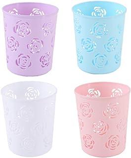 4x Chytaii Pot à Crayons Porte-Stylo Panier de Rangement Brosses Pinceaux de Maquillage Poubelle en Plastique Ustensile de...