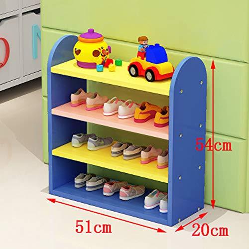 Kinderschuhregal, Aufbewahrungsregal, 3 Ebenen, Spielzeugaufbewahrung, 51 x 20x 54 cm (Breite x Länge x Höhe), Geeignet für Schlafzimmer, Kinderzimmer, Kindergärten