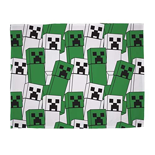 Minecraft Offizielles Fleecedecke, Creeper-Design, super weiche Decke, perfekt für jedes Schlafzimmer