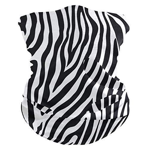 Xiumeimei Animal Zebra Print Sombreros Polaina del Cuello Scarf Bandana Venda Polvo de pasamontañas Cubiertas...