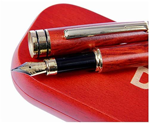 Dryden Luxus Füllfederhalter Füller Kaligraphie Füllhalter mit Tinten-Konverter und Geschenkschachtel | 100% Handgefertigt Füllhalter | Füllfederhalter-Set für Führungskräfte