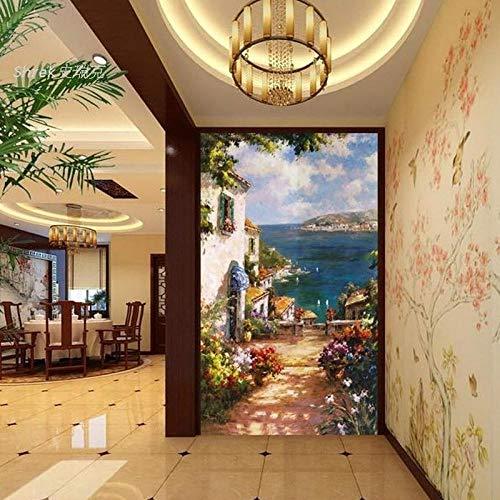 Pbbzl 3D-behang, personaliseerbaar, barkruk, retro mode, nostalgische achtergrond schoonheid muur restaurant studio bar behang 400 x 280 cm