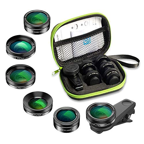 Monocle Camera Kit for iPhone – 20X Photography Lens Including Macro iPhone Lens,Zoom +200° Wide Angle,Super Fisheye,Kaleidoscope Lens – Universal iPhone 12,11,Xs, Xr, 8, 7, Android, Samsung, iPad