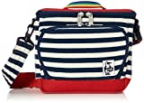 [チャムス] カメラバッグ Box Camera Bag Sweat Nylon Navy Border/Tomato