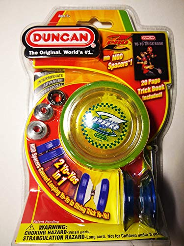 Duncan Pro Z Translucent YoYo with Mod Spacers and Trick Book, Color May Vary