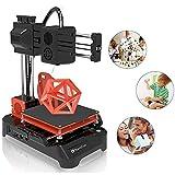 NantFun Impresora 3D, Mini Impresora 3D Portátil Pequeña para Niños y Principiantes con Filamento PLA, Calentamiento Rápido, Tamaño De Impresión 100X100X100mm, negro y naranja