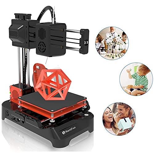 NantFun Mini Stampante 3D per Bambini & Principianti, DIY 3D Printer con Filamento PLA, Riscaldamento Rapid, Assemblaggio facile e veloce DIY Kit, Dimensioni di Stampa 4'×4'×4'