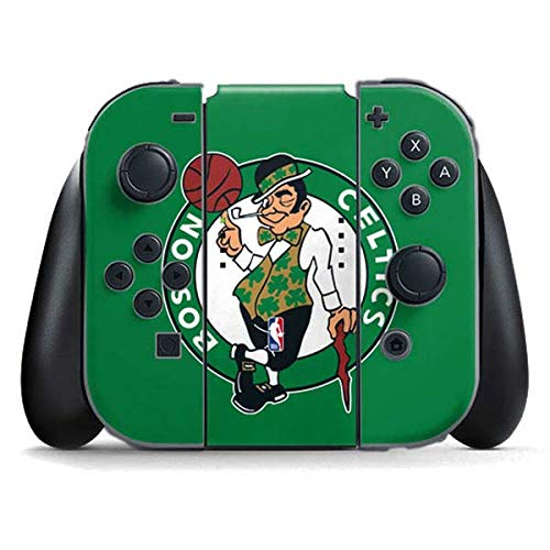 Skinit Decal Gaming Skin Compatible with Nintendo Switch Joy Con Controller - Officially Licensed NBA Boston Celtics Large Logo Design