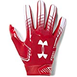 Under Armour Men's F6 Football Gloves, Red (600)/White, Medium
