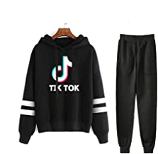 wuyyii Winter New vibrato Character TIK Tok Printing Around European and American Fashion Casual Suit