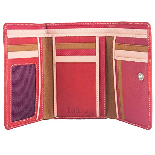 Sunsa Geldbörse für Damen großer Leder Geldbeutel Portemonnaie mit RFID Schutz Brieftasche mit viele Kreditkarten Fächer Geldtasche Wallet Purses for Women das Beste Gift kleine Geschenk 81634