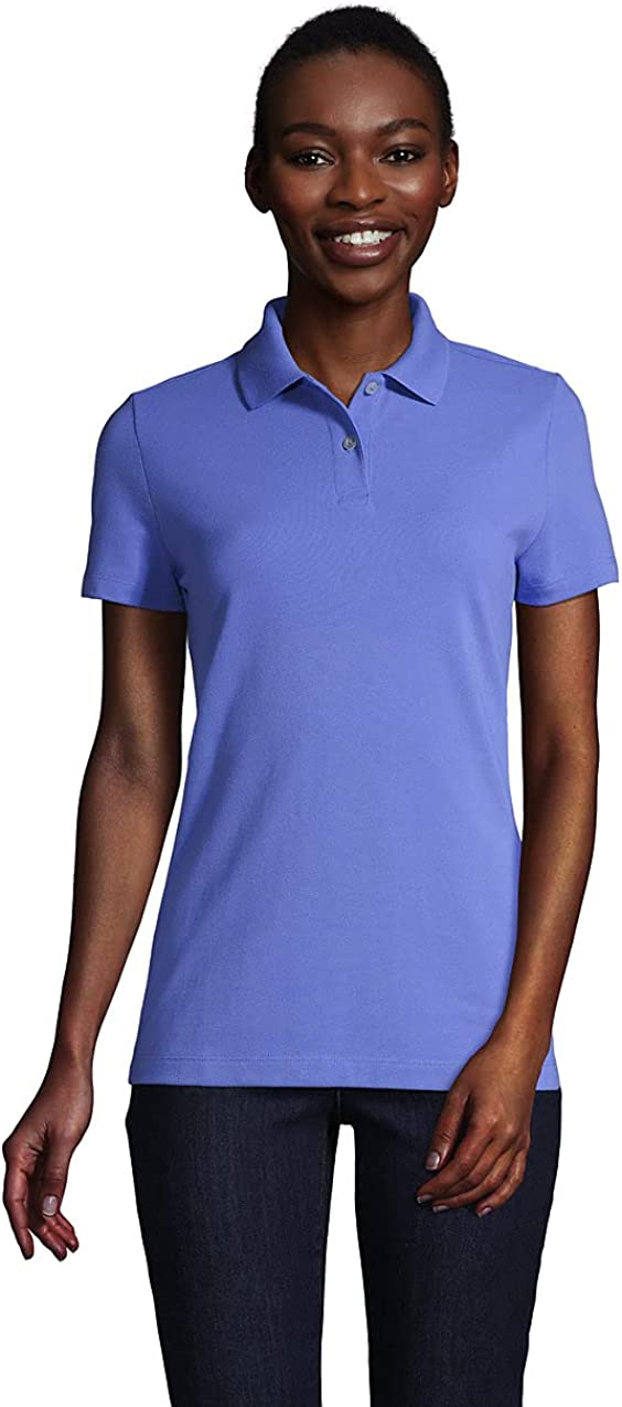 Lands' End Women's Short Sleeve Basic Mesh Polo Shirt