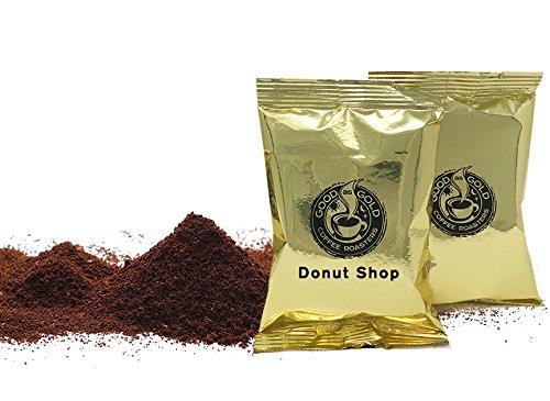 Donut Shop Coffee Pouches, Good As Gold Coffee (40 / 2.0oz Pre measured coffee packets), Premium 100% Arabica Medium Roast Blend