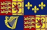 magFlags Bandera XL Royal Standard of Great Britain 1707-1714 | Royal Standard of Great Britain Between 1707 to 1714 | Bandera Paisaje | 2.16m² | 120x180cm