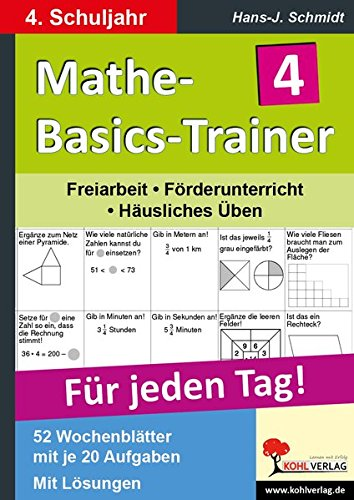 Mathe-Basics-Trainer 4. Schuljahr: Grundlagentraining für jeden Tag