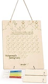 Vorcool famiglia calendario compleanno promemoria in legno da appendere con placca di compleanno Board DIY 50PCS cuori di legno