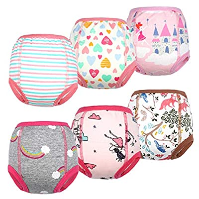 2020 Updated Cotton Training Pants Strong Absorbent Toddler Potty Training Underwear for Baby Girl 5T