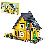 Lommer Juegos modulares de construcción de villa, modelo de arquitectura de casa de 458 piezas, modelo de arquitectura de la villa del desierto, bloques de construcción compatibles con Lego Creator
