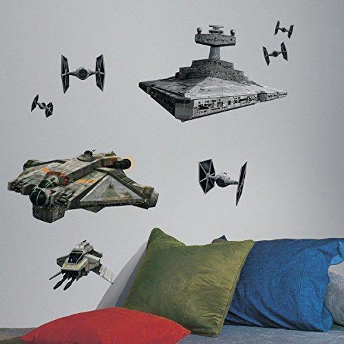 Room Studio - Sticker Géant Repositionnable Star Wars Vaisseaux Et Empire