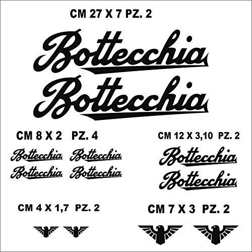 Adesivi Bici BOTTECCHIA Kit Adesivi Stickers 12 Pezzi -Scegli SUBITO Colore- Bike Cycle pegatina cod.0792 (070 Nero)