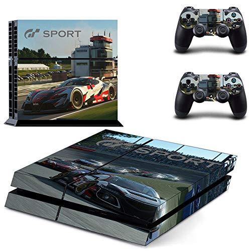 FENGLING Calcomanías Protectoras de Piel Modelo Gran Turismo Sport para Playstation 4 Ps4 Pegatina de Consola para Cubiertas de Controladores Ps4 2