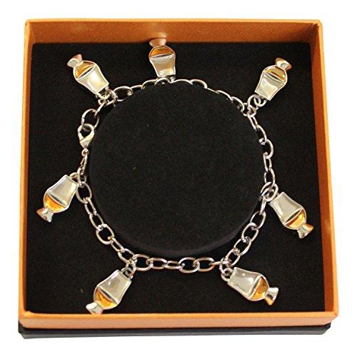 Vasos de whisky esmaltado encanto pulsera de cristal de whisky con caja de presentación