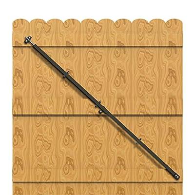 Qualward Gate Brace Kit Wood Privacy Fence Bracket Adjustable Anti Sag Gate Kit, 64 inch Heavy Duty Gate Bracket Supports for Outdoor Wooden Fence Gates