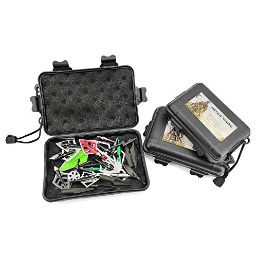 SHARROW Tiro con Arco 2 uds Caja de Punta Ancha Caja de plástico portátil Caja de Almacenamiento de Accesorios de Puntas de Flecha de Caza (M)