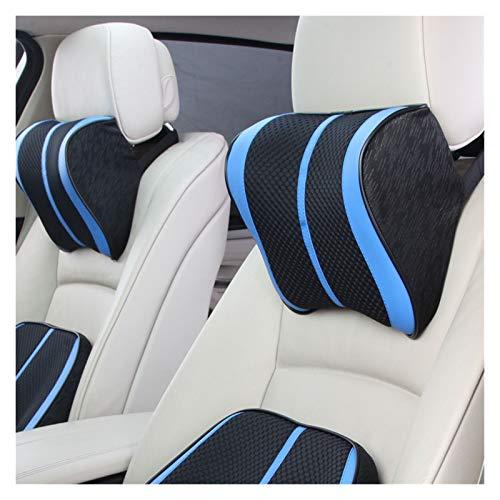 XCYY 3D Breathable Car Headrest Neck Pillow Memory Foam Seat Cushions Car Seat Pillow (Color : Blue Neck)