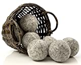 Kitchow Organic Dark Wool Dryer Balls, 8-Pack — Made for Drying...