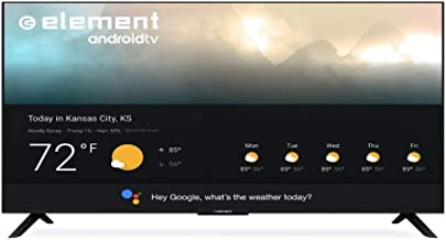"$999 » Element 55"" 4K UHD Smart Android TV with Google Assistant - Black (E4STA5517)"