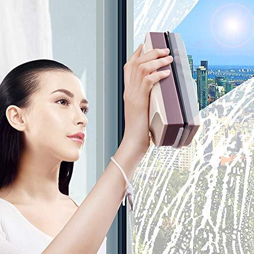 Slinlu Limpiacristales Magnético de Ventanas,de Doble Acristalamiento Cuadrado Limpiador de Vidrio de Dos Lados,Adecuado para Vidrio de 3-28 mm