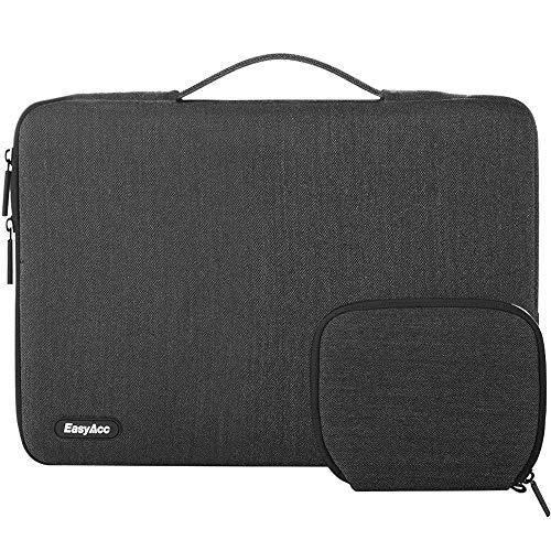 EasyAcc 14-15,4 Zoll Laptop Tasche Sleeve Hülle mit Handgriffen & Zubehörtasche Tragbare Laptoptasche Schutzhülle für 14-15,4