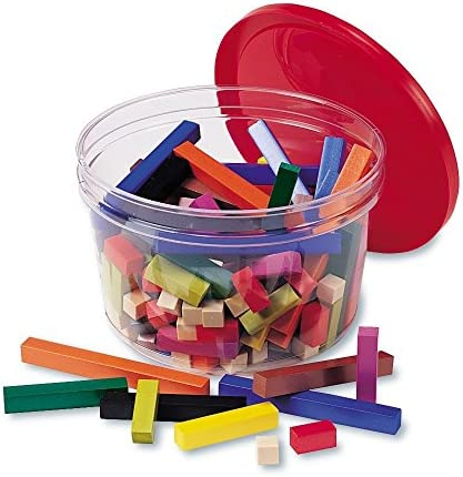 Learning Resources Cuisenaire Rods Small Group Classroom Set, Math Class, Teacher Aids, 155 Piece Wood Set,Multi-color