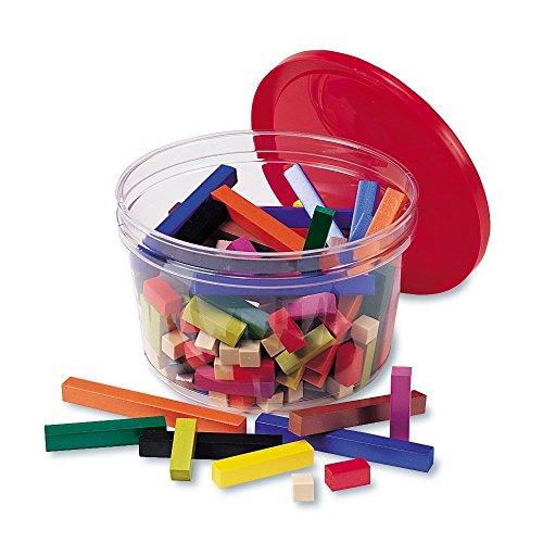 Learning Resources Grupos pequeños de regletas de Cuisenaire de plástico (Set de 155), Color (LER7513)