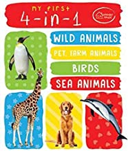 My First 4 In 1 One Wild Animals, Pet and Farm Animals, Birds, Sea Animals : Padded Board Books