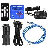 Cámara de microscopio de video industrial HDMI USB con lente 100X Enchufe de la UE 110-240V 38MP
