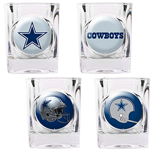 Dallas Cowboys NFL 2pc Rocks Glass Set - Helmet logo