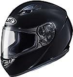 HJC Solid Adult CS-R3 Street Motorcycle Helmet - Black/X-Large