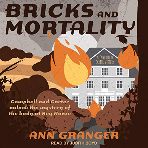 Bricks and Mortality audiobook cover art