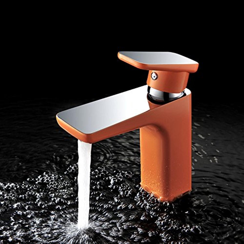 Yuyu19-SLT Wasserhahn Küche Einhebelmischer Spültisch Armatur Küchenarmatur Spültischarmatur Spülbecken Mischbatterie Messingfarbene Farbe matt, Orange