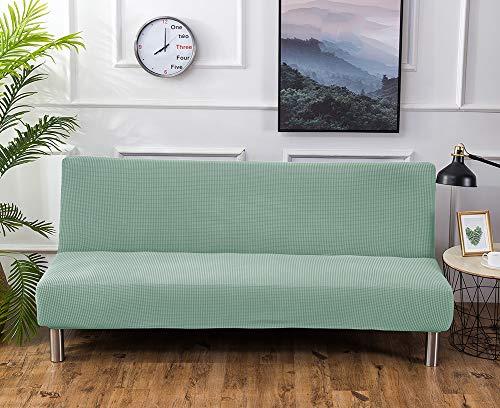 TSSCY Sofabezug Armless,Couch-abdeckungen Wasserdicht Stretch hussen Sofa wirft Stuhl beschützer Möbel Anti-rutsch Schlafsofa Schild Polyester-hellgrün L