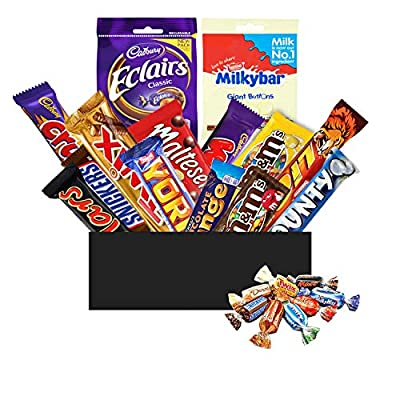 chocolate hamper sweet gift box - huge selection of full sized chocolate bars which make great gifts for men, fathers day or birthday presents perfect for sharing Chocolate Hamper Sweet Gift Box – Huge Selection of Full Size Chocolate Bars – Great Presents at Christmas, Birthdays… 51BlbxcaMSL