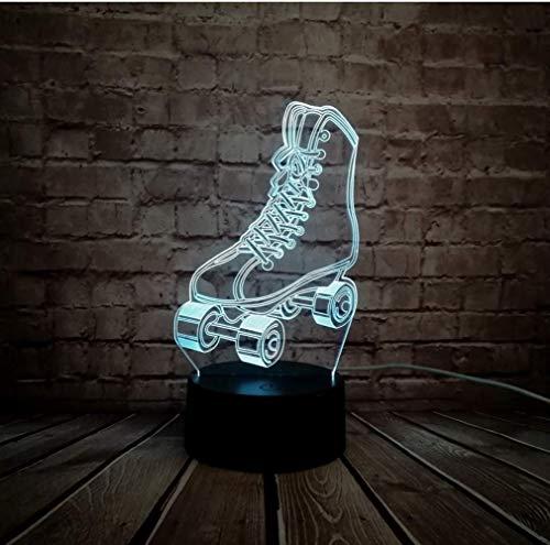 LED Nachtlicht Illusion 3D Lampe Sport Rollschuhe Schuhe Multicolor Dimmen USB Touch Kind Kinder Tisch Baby Schlafen Geschenk