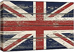This Union Jack themed vintage, canvas print is just $32.99 and can be bought on Amazon right now!