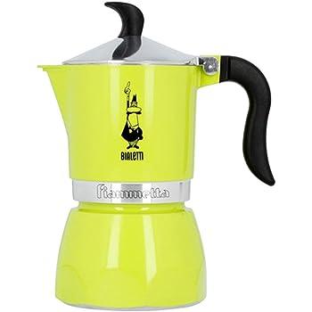 Bialetti Fiammetta Amarillo - Cafeteras italianas (Amarillo, 3 tazas, Aluminio, Fiammetta, 1 pieza(s), 6 pieza(s)): Amazon.es: Hogar