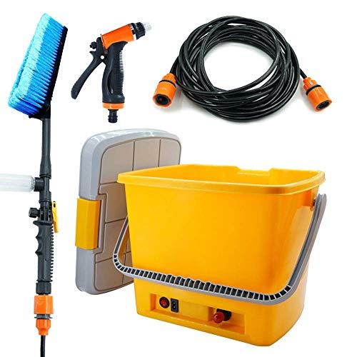 SKLLA 12 V pomp autowasstraat spuitpistool auto wasmachine draagbare penseel auto automatische artefacet elektrisch waterpistool penseel pomp (20l)