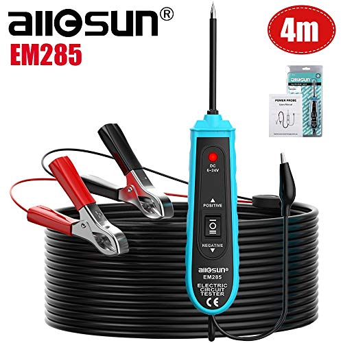 All-Sun EM285 Power Probe Car Circuit Tester with Automotive Electric System 6-24V DC Tools Support Track and Locate Short Circuits Test for Continuity with The Assistance of Auxiliary Ground Lead
